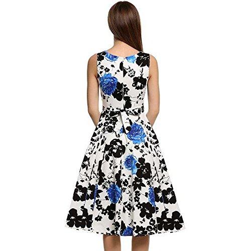 ... MAX MALL Damen 1950er Audrey Hepburn Vintage Rockabilly Kleid Swing  Pinup Partykleid Cocktailkleid Blau vDhgkBEDZO ... 8c7e2480c5