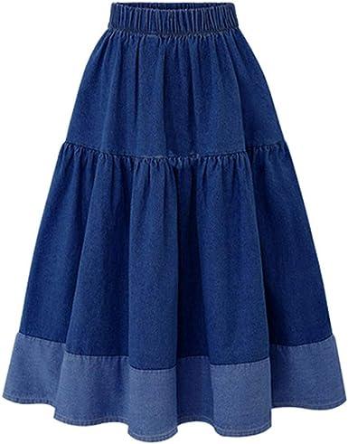 Faldas Mujer Vaquera Midi Verano 2019 Casual PAOLIAN Faldas Fiesta ...