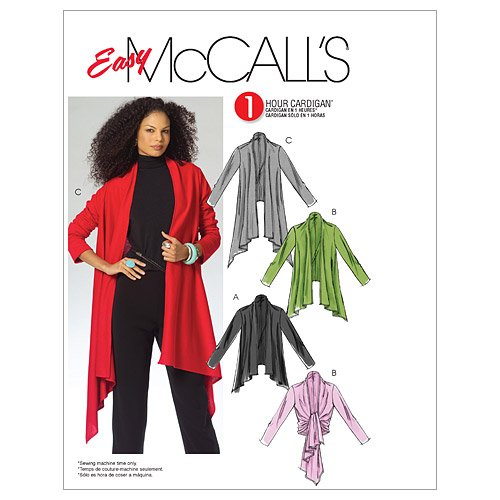 McCall's Patterns M5241 Misses' Cardigan in 3 Lengths, Size Y (XSM-SML-MED)