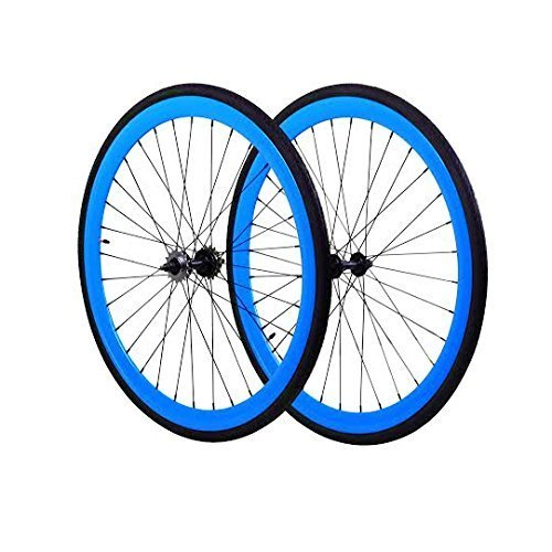 Fixie Wheels Front and Fixed Gear, Flip Flop Rear, Blue