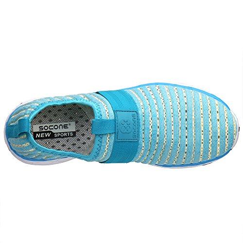 ALEADER Herren Mesh Slip On Water Schuhe Himmelsblau 9976