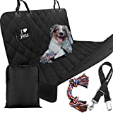 Starling's Luxury Dog Seat Cover for Cars Double Stitched&Reinforced, Hammock Style, Heavy Duty Waterproof Quilted Polyester, Non-Slip, for Cars & SUV -W/Pet Car Seat Belt & Dog Toy