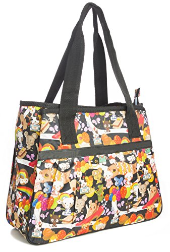Big Handbag Shop - Bolsa unisex Tote 865 - Tulip White