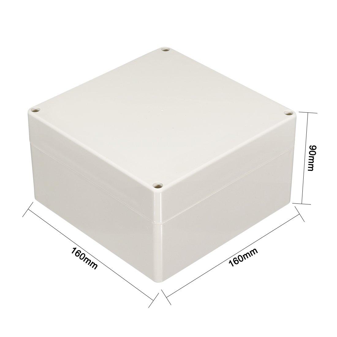 90mm Elektro ABS Plastik DIY Junktion Box Annex Deckel sourcing map 160 160