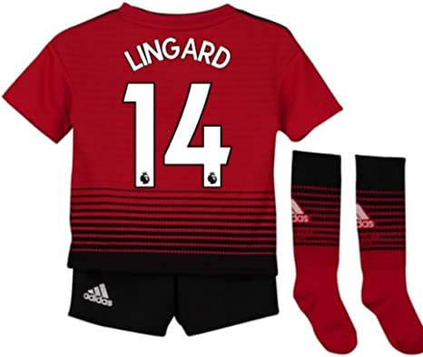 UKSoccershop 2018-2019 Man Utd Adidas Home Little Boys Mini Kit (Jesse Lingard 14): Amazon.es: Deportes y aire libre