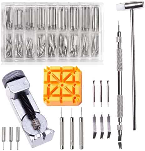 376pcs Watch Link Remover Kit - Watch Band Spring Bar Tool Set with Watch Pins for Watch Repair and Watch Band Replacement