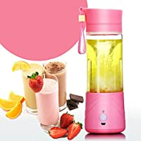 Siddhi Collection 380ml Multifunctional Portable Rechargeable Electric Water Bottle Juicer Juice Extractor Fruit Vegetable Milk Shake