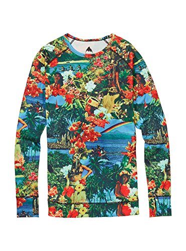 Burton Women's Lightweight Crew Tops, Maui Wowie, Large (Burton Sweater Crew)