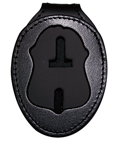 (Perfect Fit FBI Belt Clip Badge Holder with Pocket and Chain (Cutout PF39))