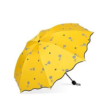 ENFndfmjdf Anti-UV Impermeable Protección Solar Doble Uso Paraguas Plegable,Impacto Paño Plegable De