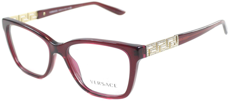 Versace VE3192B Eyeglass Frames 388-52 - Transparent Red VE3192B-388-52 by Versace