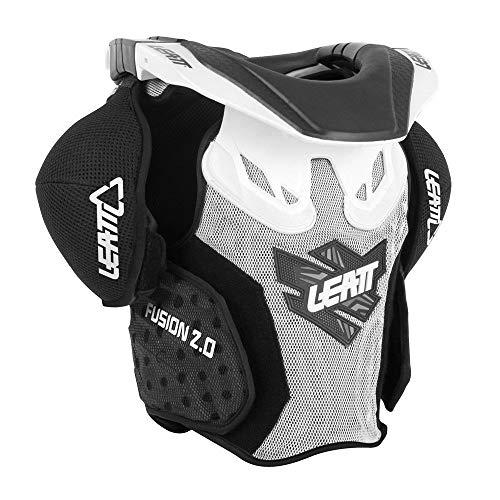 Leatt Fusion 2.0 Jr Protective Vest (White/Black, Large/X-Large)