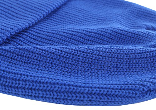 Connectyle Outdoor Classic Bassic Men 's Hats Daily Cuff Beanie Blue, 55 60cm