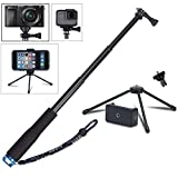 VVHOOY 43 inch Waterproof Action Camera Selfie Stick with Tripod Monopod Stand