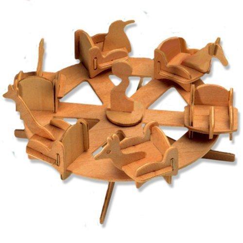 名作 3-D for Wooden Puzzle by - Small Roundabout -Affordable Puzzle Gift for your Little One! Item #DCHI-WPZ-P032 by All4LessShop B004QDVF60, インテリアコンポ2:a2d5f98f --- quiltersinfo.yarnslave.com