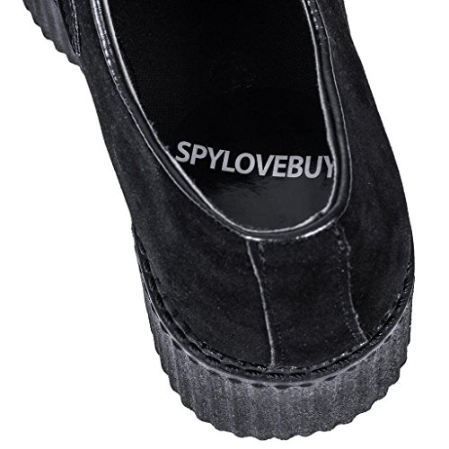 4cf23ee0a1 delicate SPYLOVEBUY MATILDA Flat Chunky Creeper Sneaker Lace Up Platform  Pumps