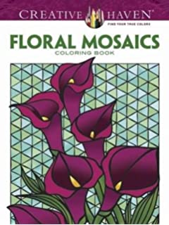 Creative Haven Floral Mosaics Coloring Book Adult