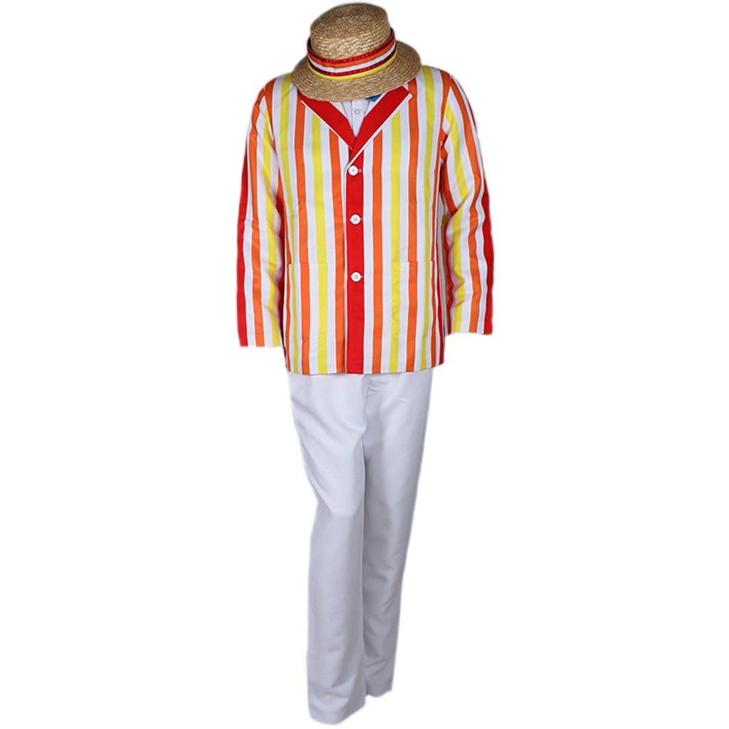 CosplayDiy Men's Costume Uniform For Mary Poppins Bert Cosplay S