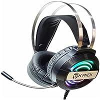 Fone De Ouvido Gamer Headset USB com Iluminação RGB Suave com Máximo de Isolamento 3.5mm