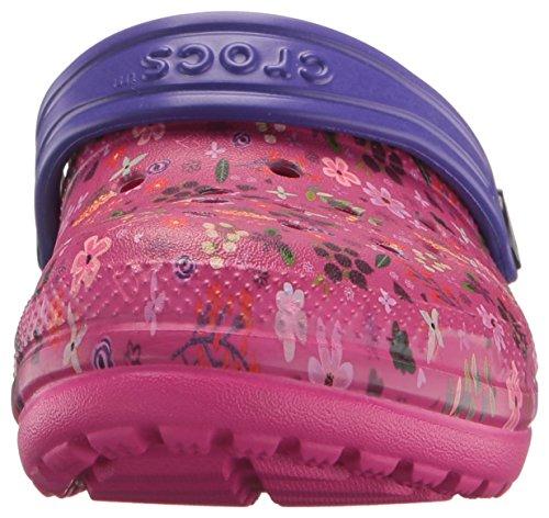 zoccoli Classic Crocs Lined Graphic peony Candy Pink rosa Clog Ragazza Zoccoli Blu K Ciabatte rwg6wqUY