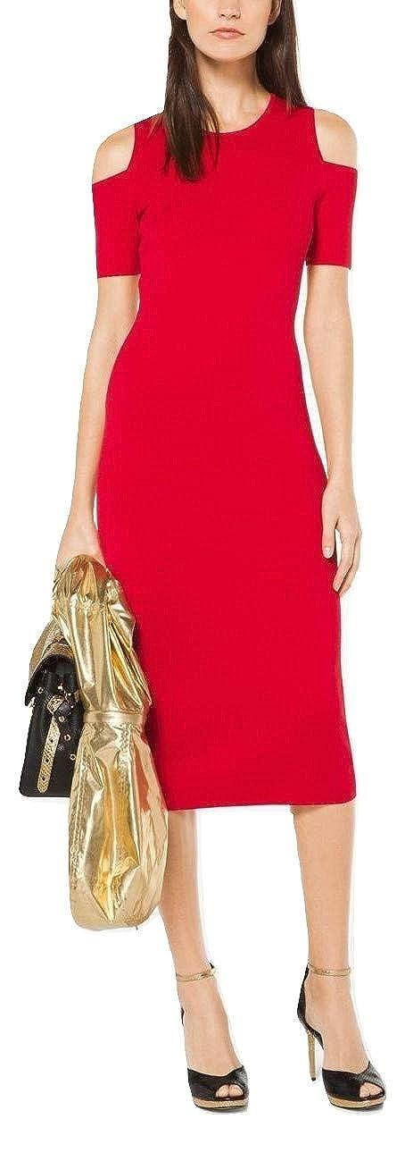 9896fb0a5e80 Michael Kors Stretch Viscose Peekaboo Midi Dress at Amazon Women's Clothing  store: