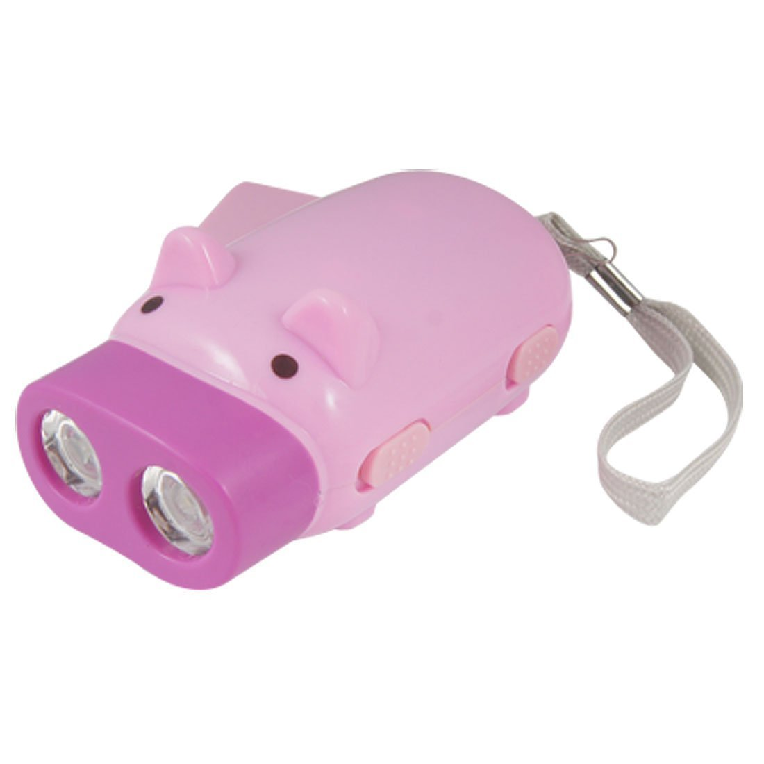 DealMux la historieta-cerdo-form-2 LED-luz de emergencia linterna pulse Rosa fucsia