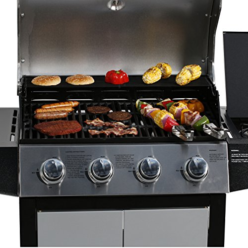 Master Cook Outdoor Propane Grills 4 Bunner Gas Side
