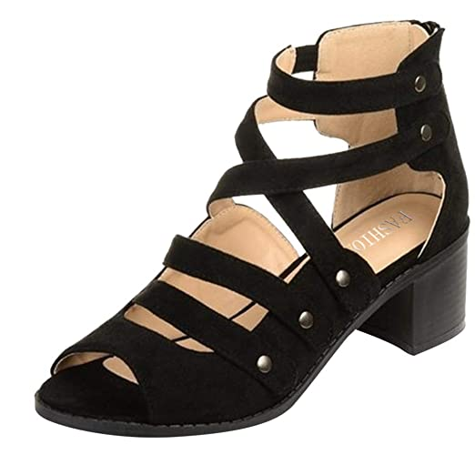 4848b080513d OutTop(TM) Women s Flat Sandals Ladies Gladiator Strappy Criss Cross Ankle  Open Toe Beach