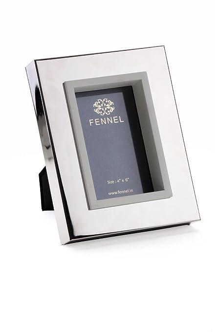 Buy Fennel Passport Size Photo Frame in Nickel Silver Steel. Online ...