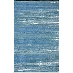 Evolur Home Cape May Waterfall Nursery Rug 70'x52' in Caribbean Blue