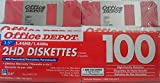 Office Depot 3.5 inch Bulk Floppy Diskettes, IBM Format, DS/HD, Rainbow, 100 Pack