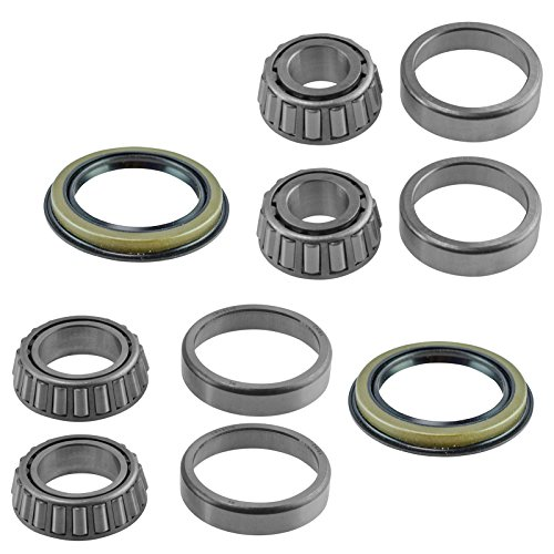6 Piece Inner & Outer Wheel Bearing w/Seal Kit LH & RH Sides for Ford -