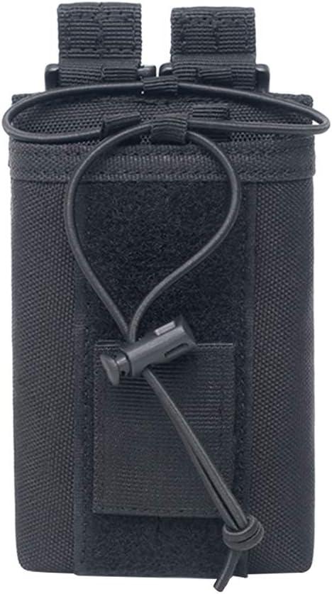 LIOOBO Bolsas tácticas para la Caza al Aire Libre Bolsos de Cintura de Bolsillo Molle (Negro)