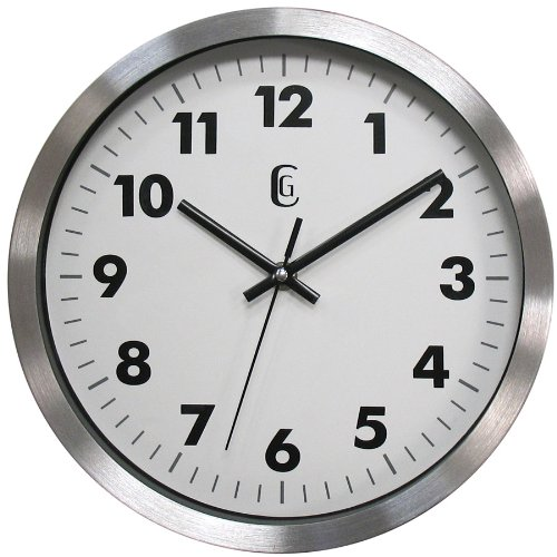 Geneva 10-Inch Metal Wall Clock