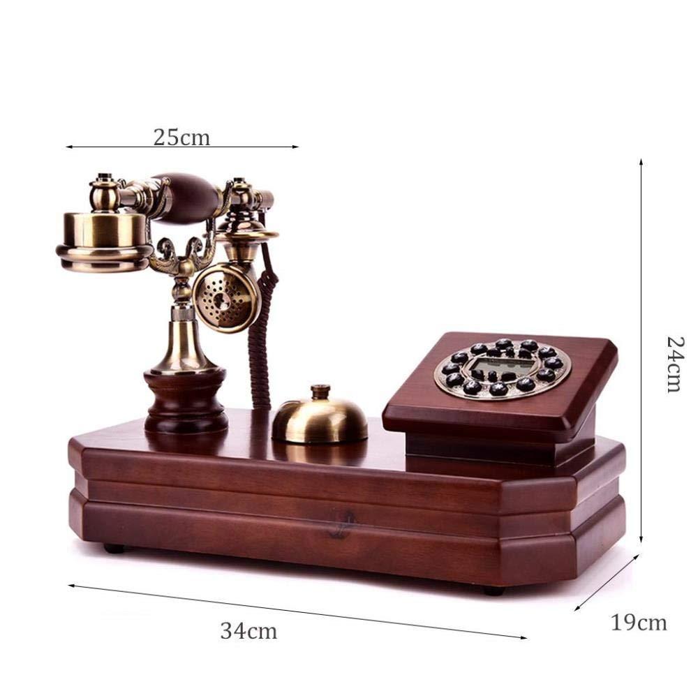 Tel Teléfono: Puro de Madera Maciza Teléfono Antiguo Pasado Hogar ...