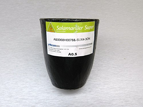 SALAMANDER CRUCIBLE A0.5 SUPER A SHAPE CLAY GRAPHITE MORGAN SMALL SIZE MELTING (B10) NOVELTOOLS ()
