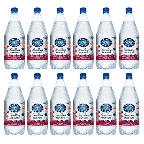 Crystal Geyser Sparkling Spring Water, Mixed Berry, 1.25 Liter PET Bottles , No Artificial Ingredients, Sweeteners, Calorie Free (Pack of ()