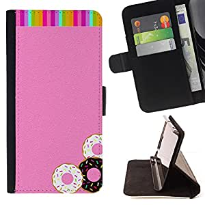 "For HTC Desire 626 626w 626d 626g 626G dual sim,S-type Buñuelos Pink Glitter Rainbow dulces"" - Dibujo PU billetera de cuero Funda Case Caso de la piel de la bolsa protectora"