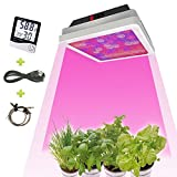 LED Grow Light 540W,with Thermometer Humidity Monitor,Double Chip Hydroponics Greenhouse Lighting Full Spectrum for Indoor Grow Tent Plants Veg and Flowers (540W LED Grow Light)
