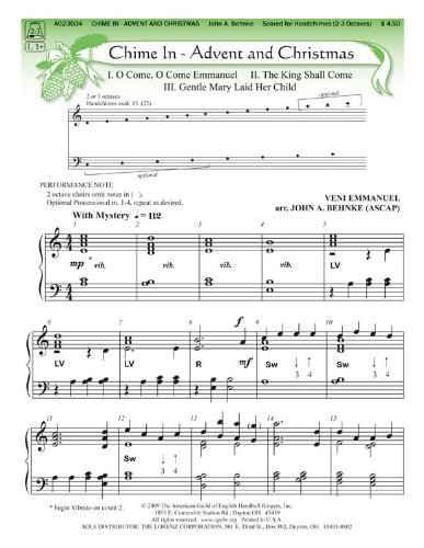 Chime In: Advent and Christmas (Handbell Sheet Music, Handchimes 2-3 octaves) (Octave Christmas Music 2 Handbell)