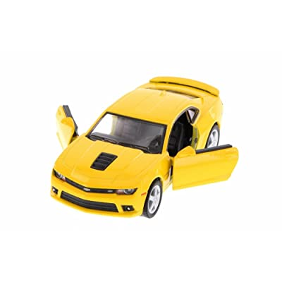 Kinsmart 2014 Chevrolet Camaro, Yellow 5383D - 1/38 Scale Diecast Model Toy Car, but NO BOX: Toys & Games