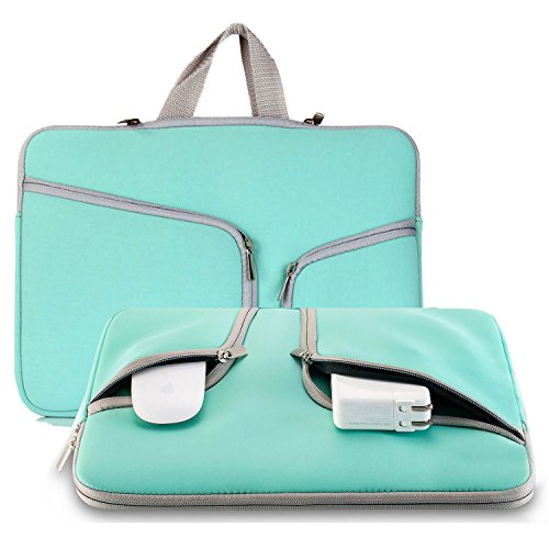 (Laptop Sleeve Case 11.6-12.3 inch, NOKEA Protective Portable Carrying Case Bag Handle Accessory Pocket for Mac Air 11.6