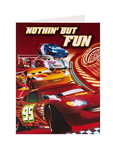Disney cars lighting mcqueen nothin' but fun birthday card
