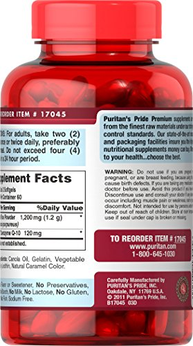 Puritan's Pride Q-SORB Co Q-10 Plus Red Yeast Rice-120 Rapid Release Softgels by Puritan's Pride (Image #1)