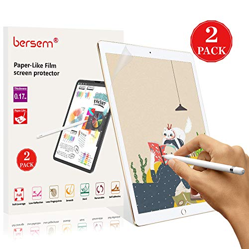 - Paperlike Screen Protector for iPad Pro 12.9'' 2017&2015, Bersem Paperlike iPad Pro 12.9 2017/2015 Anti Glare Matte Screen Protector (2 Pack) with Easy Installation Kit iPad Pro 12.9'' Paperlike Film