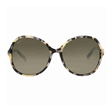 3db80a653e9 Image Unavailable. Image not available for. Color  Gucci Oversize Round  Brow Grey Sunglasses