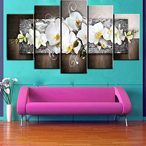 Home Decor,Home Decorations for Living Room Fashion Wall Art Canvas Painting 5 Pieces Mangnolia Flower by Pandaie Home Decor
