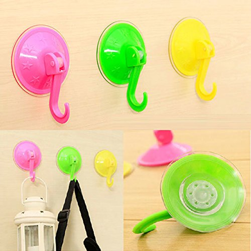 chic C&C Products Vacuum Removable Wall Suction Cup Hook Cloth Towel Strong Sucker