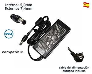 """Cargador de portátil Dell Inspiron 1545 1555 1564 1570 1520 1521 1525 1526 Laptop Notebook Battery Charger Power Supply Cord Plug 90 Watt Alimentación, adaptador, Ordenador Portatil transformador - Marca """"Laptop Power""""® (12 meses de garantía y cable de alimentación europeo incluido)"""