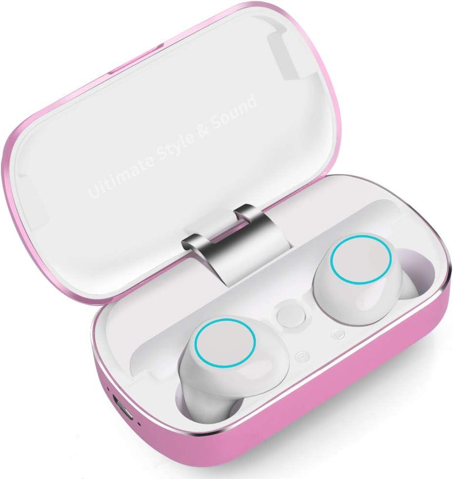 Auriculares Bluetooth, Auriculares Inalámbricos Deportivos Sonido Estéreo con Microfono, Audífonos Bluetooth Resistente al Agua IPX5, Mini Auriculares Bluetooth 5.0 para Samsung Huawei iOS y Android